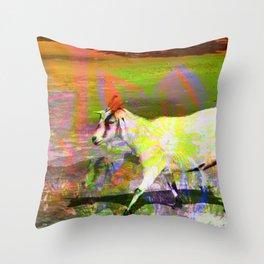 goat flower Throw Pillow