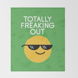 Froze Colored Glasses Throw Blanket