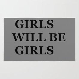 """ GIRLS WILL BE GIRLS"" UNIVERSAL TRUTH FOLK SAYINGS Rug"