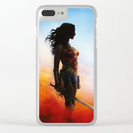 fighter woman Clear iPhone Case
