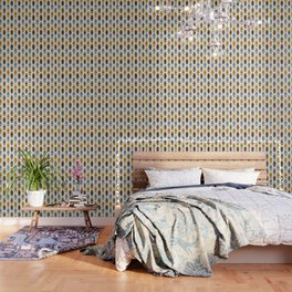 Mid Century Modern Pattern Wallpaper