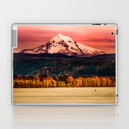 Sunset Snowy Mountain - Mt. Hood Laptop & iPad Skin