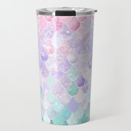 Mermaid Pastel Iridescent Travel Mug