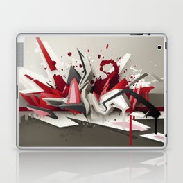 Red Metal Laptop & iPad Skin