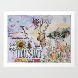 Flagstaff, AZ Art Print