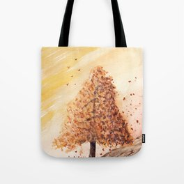 Autumn Tree Landscape Tote Bag