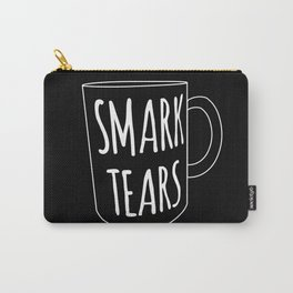 Smark Tears (white on black) Carry-All Pouch