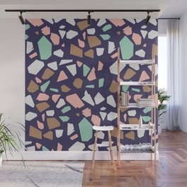 Colorful Modern Terrazzo Vector Pattern Wall Mural