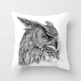 Eagle Owl G085 Throw Pillow