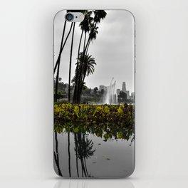 Echo Park Lake Reflection iPhone Skin
