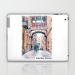 Carrer del Bisbe - Barcelona Laptop & iPad Skin