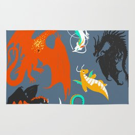 A Flight with Dragons Rug