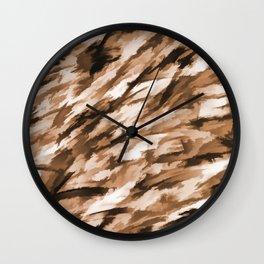 Camo - Beige on Beige Wall Clock