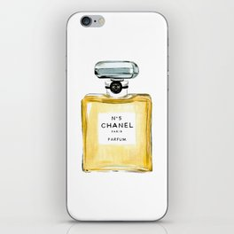 Classic Yellow Perfume Parfum Fashion Bottle Cute Minimalist iPhone Skin