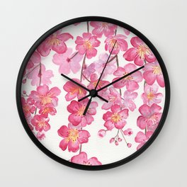 Weeping Cherry Blossom Wall Clock