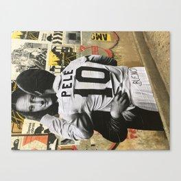 Pele Meets Mona Lisa Canvas Print