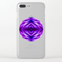 Cyber Monday   Purple Blue Night Clear iPhone Case