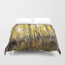 Aspen Trees of Colorado Duvet Cover