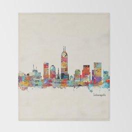 Indianapolis Indiana skyline Throw Blanket