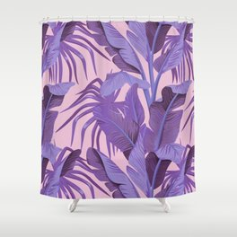 Tropical '17 - Starling [Banana Leaves] Shower Curtain