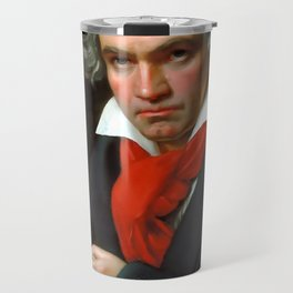 Ludwig van Beethoven (1770-1827) by Joseph Karl Stieler, 1820 Travel Mug