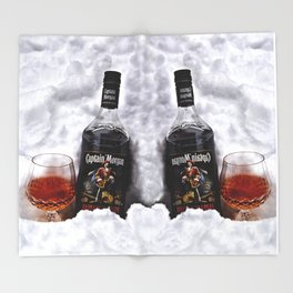 Ice Cold Captain Morgan Rum Throw Blanket