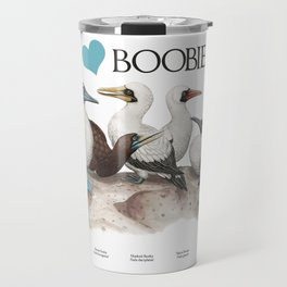 I Heart Boobies Travel Mug