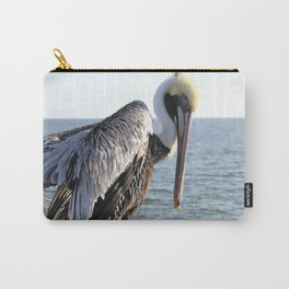 brown pelican, gulf pier, gulf shores, alabama Carry-All Pouch