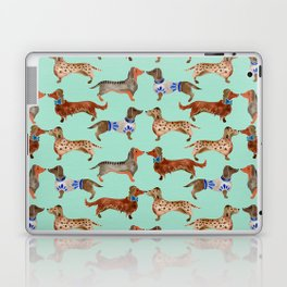 Dachshunds on Blue Laptop & iPad Skin