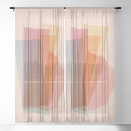 Abstraction_Spectrum Sheer Curtain