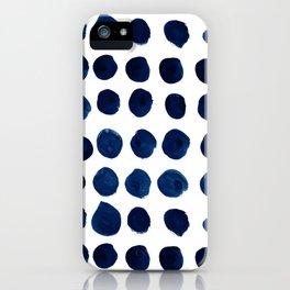 Blue Dots iPhone Case
