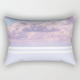 Dreamy Pastel Sky on Violet Rectangular Pillow