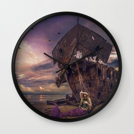 Siren's Sorrow Wall Clock