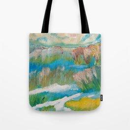 Alberta Spring Landscape / Dennis Weber of ShreddyStudio Tote Bag