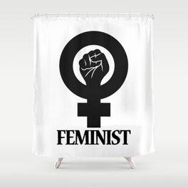 Feminist Symbol Shower Curtain