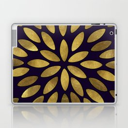 Classic Golden Flower Leaves Pattern Laptop & iPad Skin