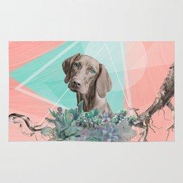 Eclectic Geometric Redbone Coonhound Dog Rug