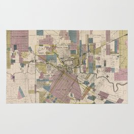 Vintage Map of Houston Texas (1895) Rug
