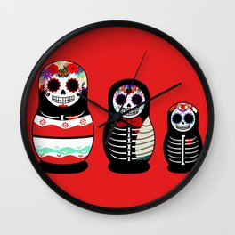 Halloween Russian dolls Wall Clock