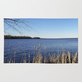 """""""Incredi-blue"""" lake view - Lake Mendota, Madison, WI Rug"""