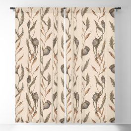 Poppy Pod Pattern Blackout Curtain