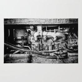 Vintage Engine Machine Block Grunge Grime Rug