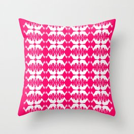 Oh, deer! in hot pink Throw Pillow