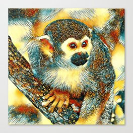 AnimalArt_Monkey_20170602_by_JAMColorsSpecial Canvas Print