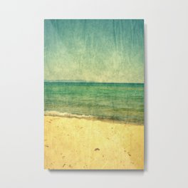 Seascape Vertical Abstract Metal Print
