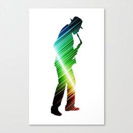 Saxophone player 03 Canvas Print
