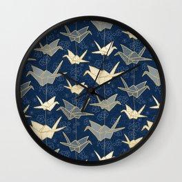Sadako's Good Luck Cranes Wall Clock