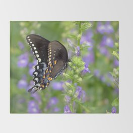 Swallowtail Sunshine Throw Blanket
