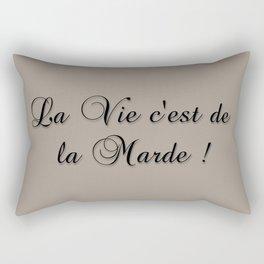 La Vie C'est De La Marde! Rectangular Pillow