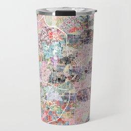 San Antonio map flowers Travel Mug